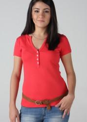 163-008 – T-shirt Baby com vista e botões