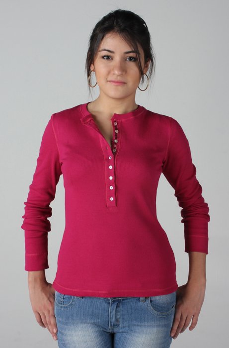 163-162 – Blusa decote redondo c/ vista e botões