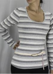 163-222 – Blusa gola U com ziper nas costas