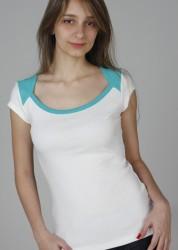 221 – Blusa bicolor decotada