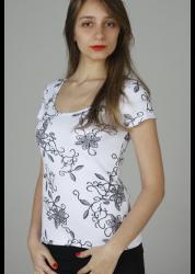 "242 – Blusa decote ""u"" estampada floral"